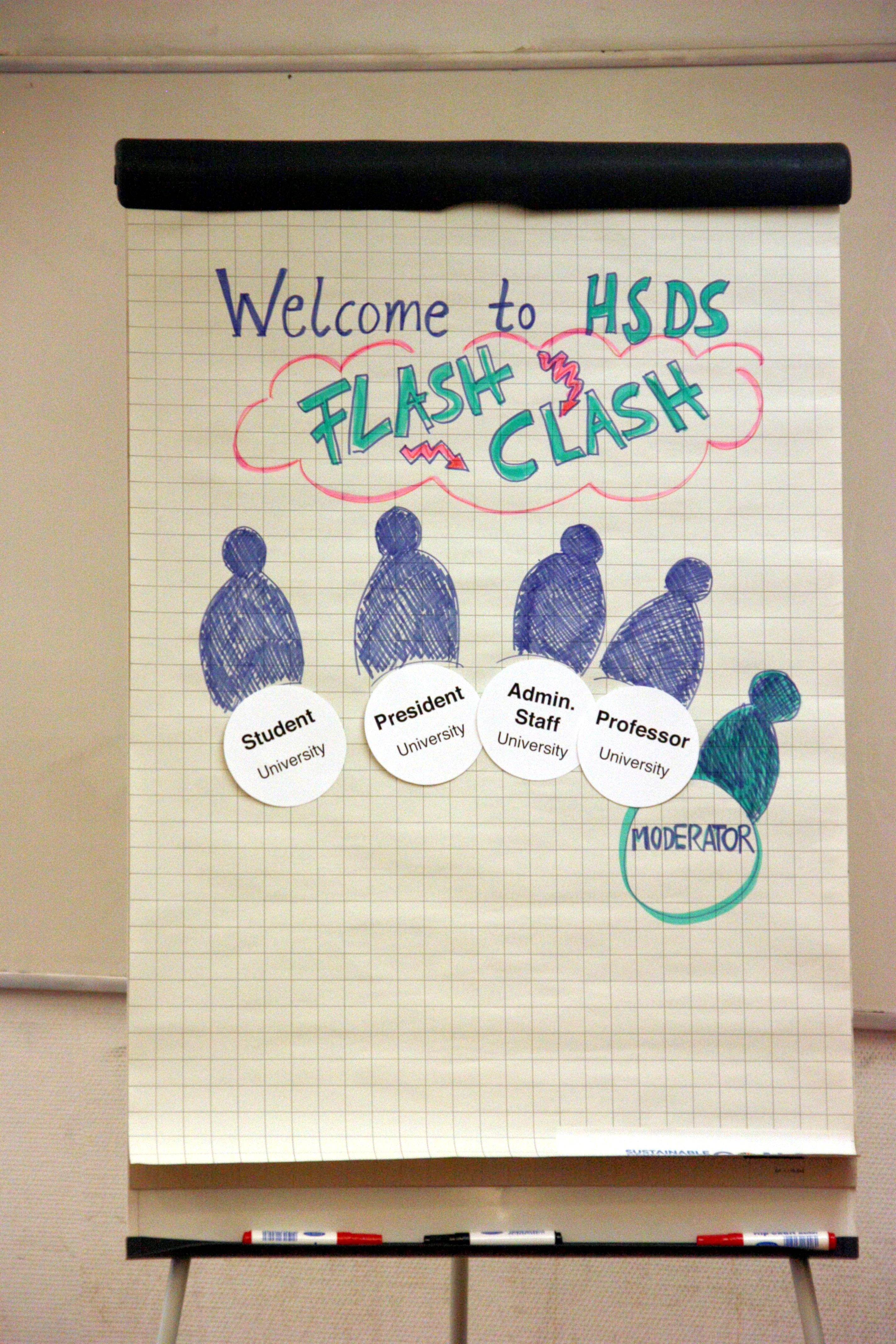 flash clash method: flip chart